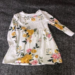 Girls long sleeve floral tunic